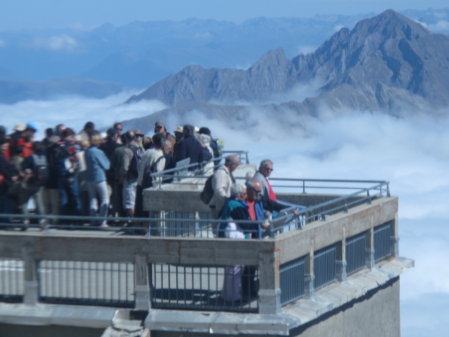 View from top of the world; Pic du Midi de Bigorre, France