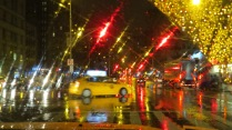 NYC rainy night