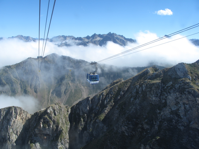 Cable car to the top of the world...Pic du Midi, Pyrenees, France