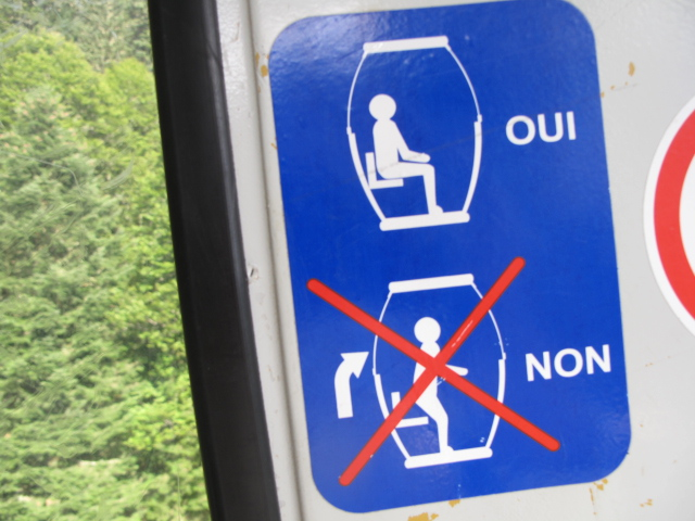 Sign on Le Petit Train Jaune,  French Pyrenees