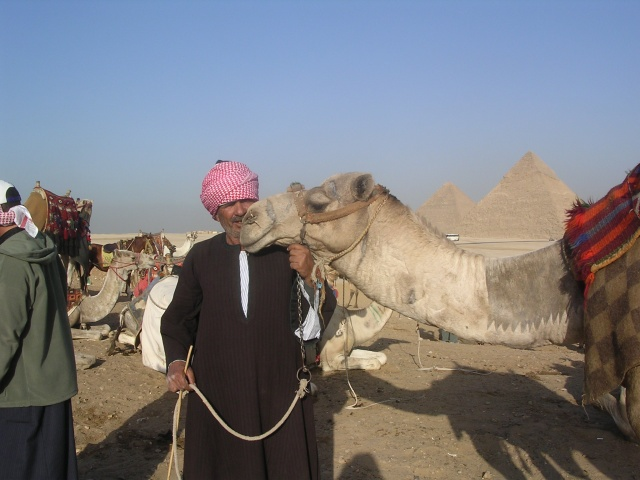 Man and his camel, GIZA