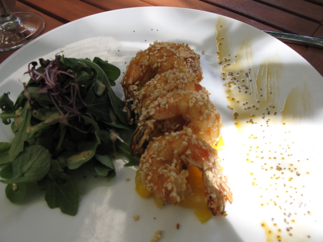 Sesame crusted shrimp