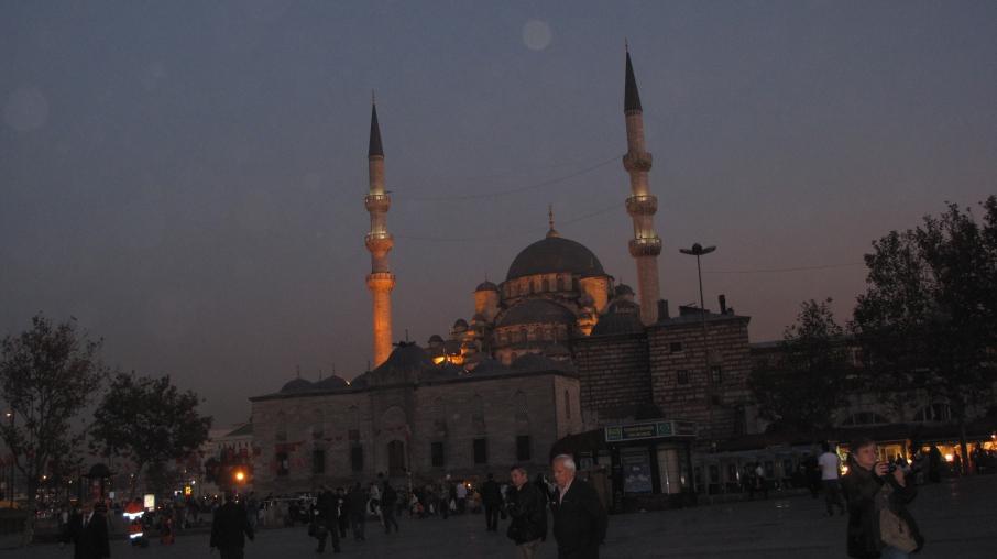 Suleymaniye Mosque at night