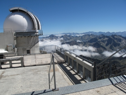 One of the smaller telescopes atop Pic du Midi