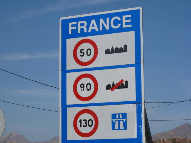 Entering France near the Somport Tunnel