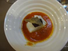 Red Bell Pepper Soup with Bacalao