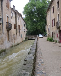 Riverbed through town