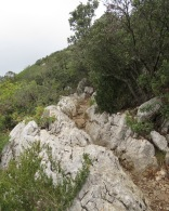 The 'path' up Pic St. Loup